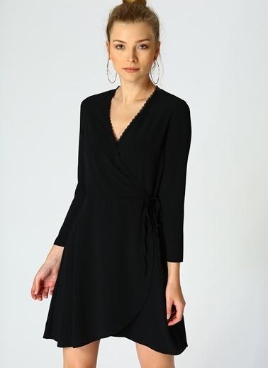 Random Anvelop Elbise Siyah